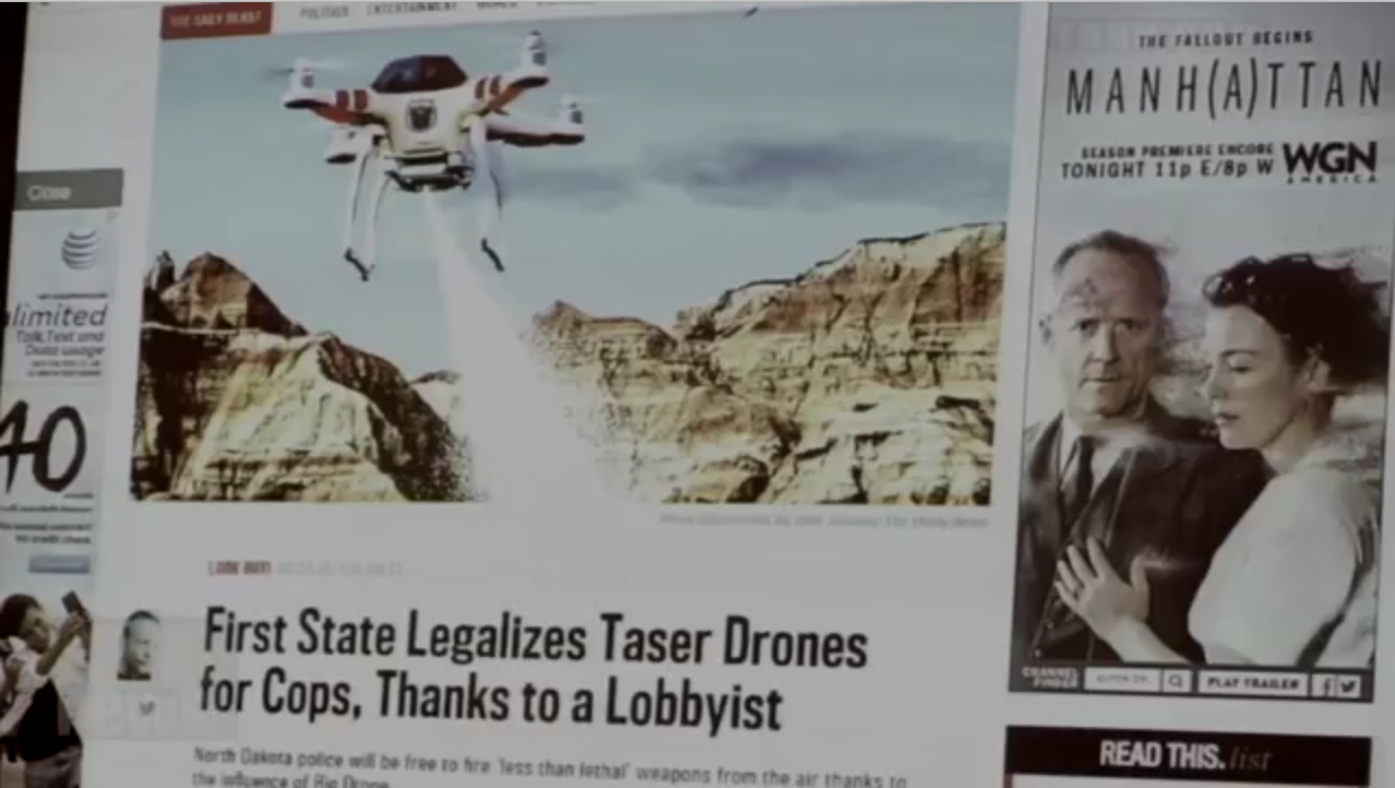 "The Daily Beast reports on the first legal ""Taser Drones"" in the United States."