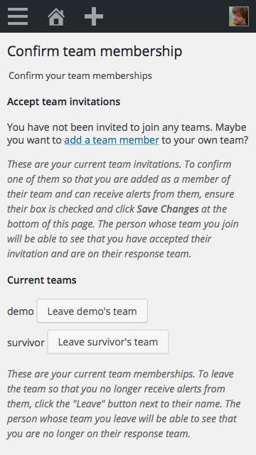 "Screenshot of Buoy's ""Team Membership"" page."