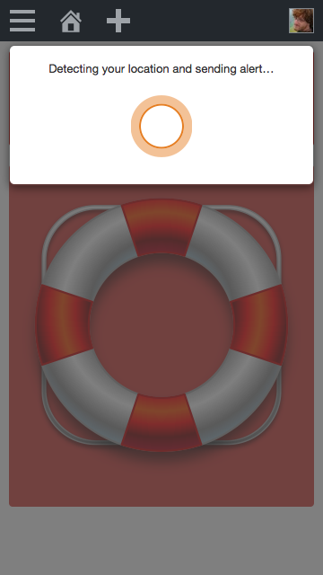 Screenshot of the Better Angels Buoy community-driven emergency dispatch system sending an alert to a crisis response team.